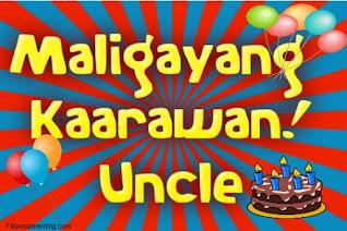 Maligayang Kaarawan Uncle
