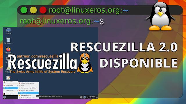 Rescuezilla 2.0, lanzada con cambios importantes