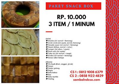 harga snack di kota Tangerang