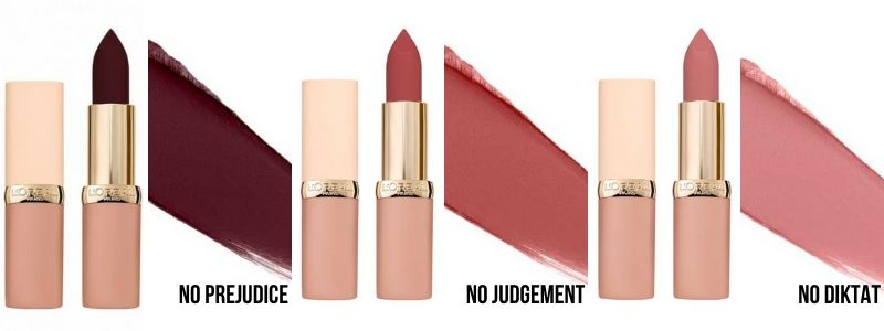 loreal-ultra-matte-free-the-nudes-swatches
