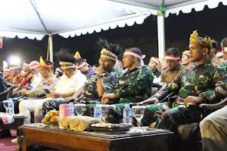 Hadiri Pagelaran Seni Budaya Nusantara :  Kasdim 0703/Cilacap Serukan Persatuan Dan Kesatuan Bangsa