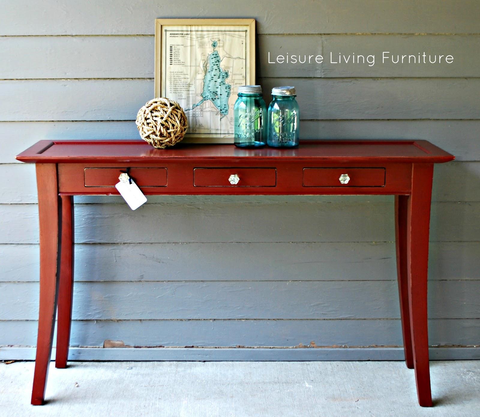 Wondrous Leisure Living Primer Red Sofa Table Short Links Chair Design For Home Short Linksinfo
