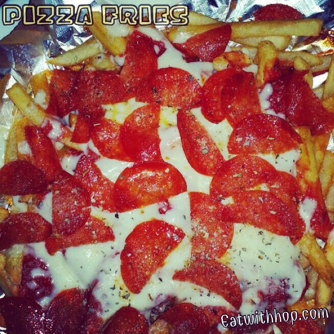 WHEN PIZZA + FRIES COLLIDE @ THE GETAWAY CAFE - RIVERSIDE (UCR)