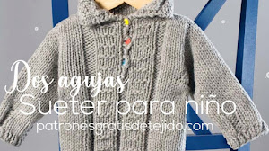 Suéter para Bebé de 6 a 12 meses | Paso a paso Dos Agujas