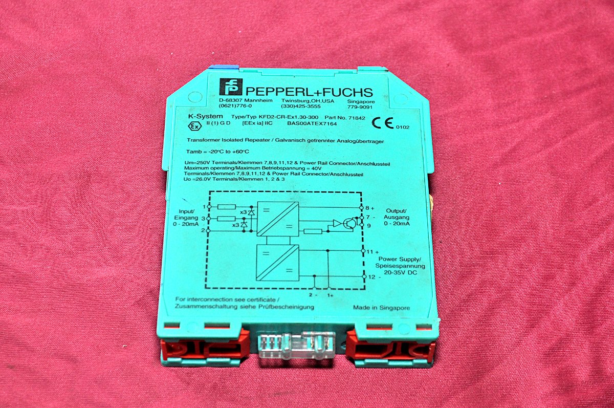PEPPERL FUCHS TRANSFORMER ISOLATED REPEATER KFD2-CR-Ex1.30-300 71842