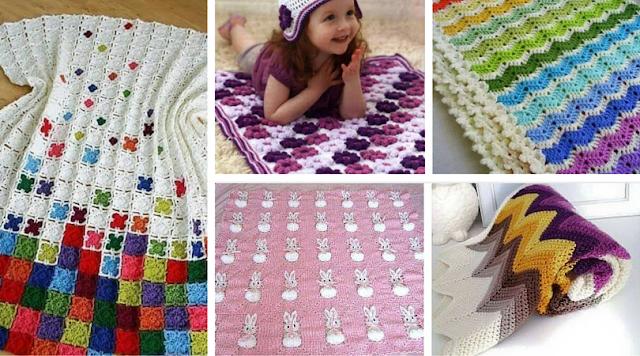 18 Mantas a Crochet - Patrones para Descargar