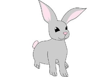 Gambar kelinci kartun lucu