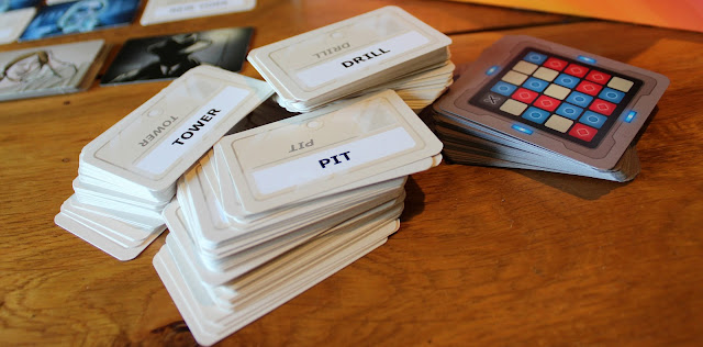 Codenames review - piles of cards