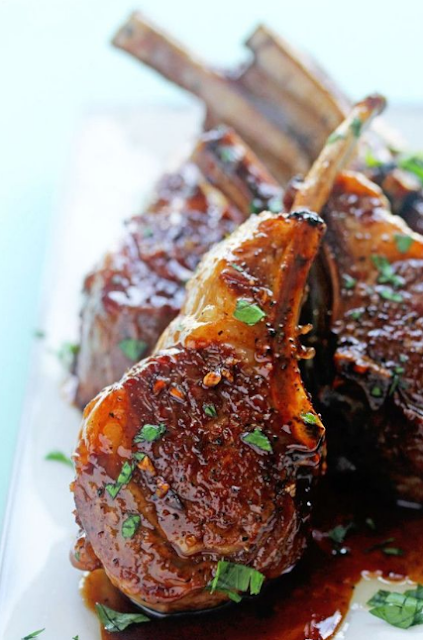 BALSAMIC BROWN SUGAR LAMB CHOPS