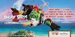 Cadastrar Promoção Cinemark Filme Angry Birds 2 Concorra Viagem com Família