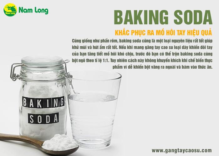 sử dụng banking soda để khắc phục mồ hôi tay hiệu quả nhất cùng găng tay cao su nam long