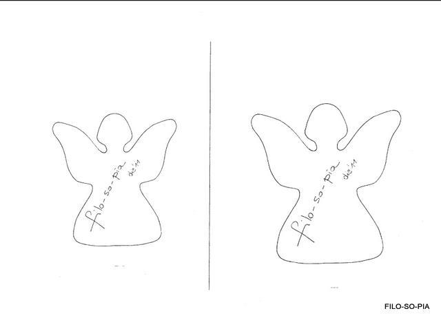 Filo so pia semplici angioletti da appendere for Angeli da ritagliare