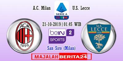 Prediksi AC Milan vs Lecce — 20 Oktober 2019