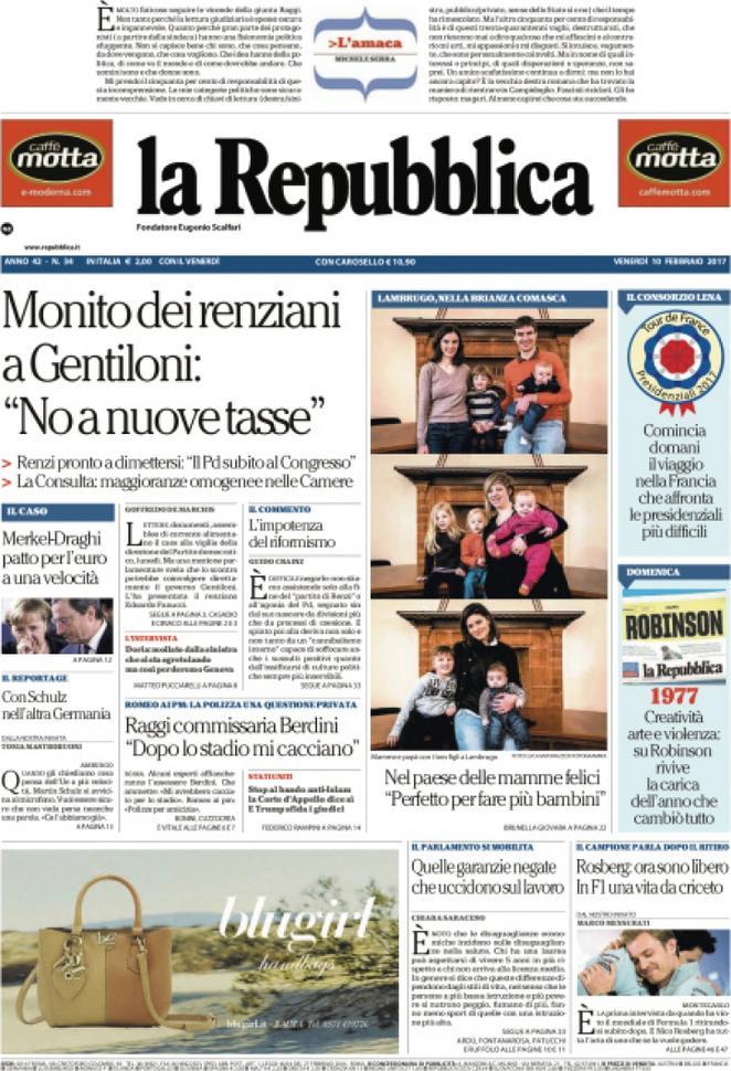 Reportages Quotidiani La Miglior Prima Pagina Di Oggi Venerdì 10