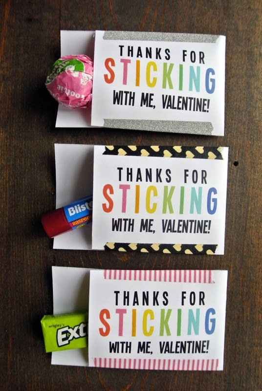 Free Printable Valentine Tag with 10+ Easy Gift Ideas