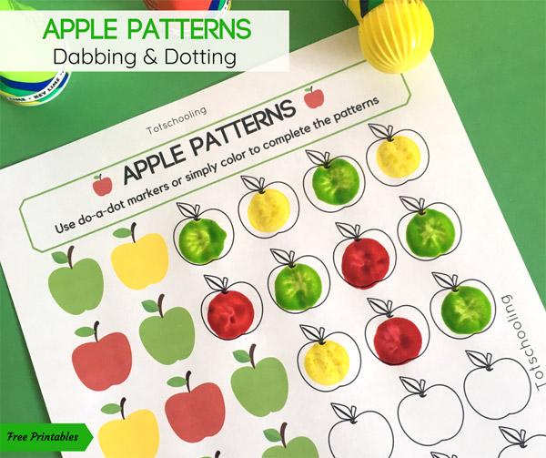 apple patterns do a dot activity totschooling toddler preschool kindergarten educational. Black Bedroom Furniture Sets. Home Design Ideas
