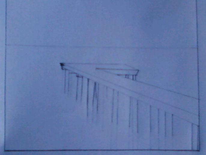 رسم منظر طبيعي بالرصاص