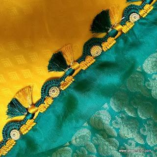 saree kuchu with beads designs images