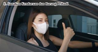 Gunakan Kendaraan dan Barang Pribadi merupakan tips aman traveling di tengah pandemi