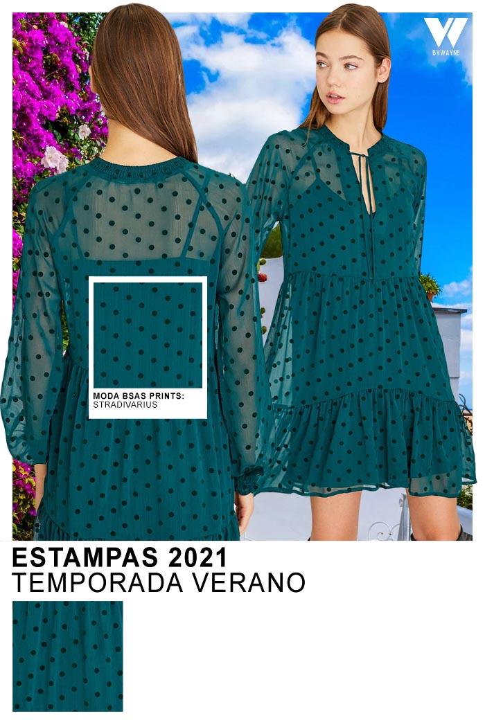 Moda lunares primavera verano 2021 vestidos