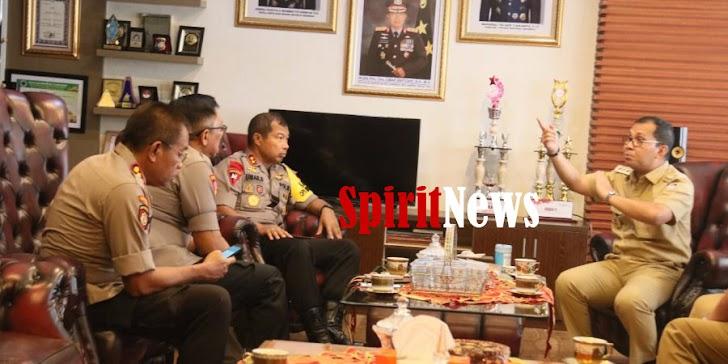Walikota Makassar, Temui Kapolda Sulsel