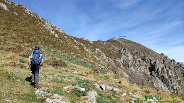 Saliendo del Collado de Piedrafita hacia el Pico Cunio