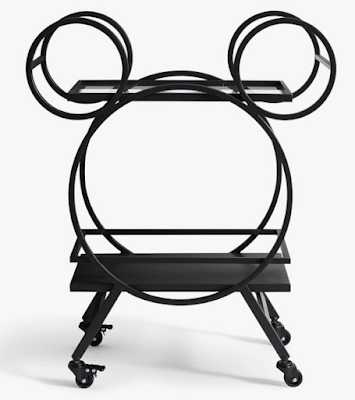 "Disney Mickey Mouse 30.5"" Kitchen Cart, Bronze"