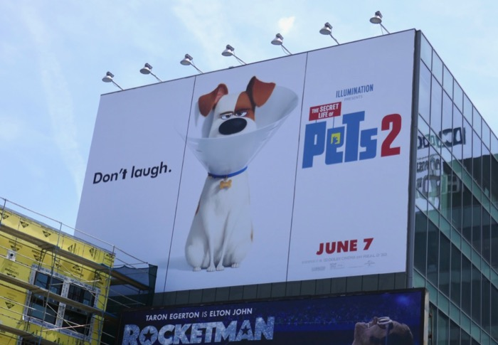 Secret Life Pets 2 giant billboard