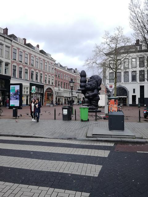 Babbo natale Rotterdam statua