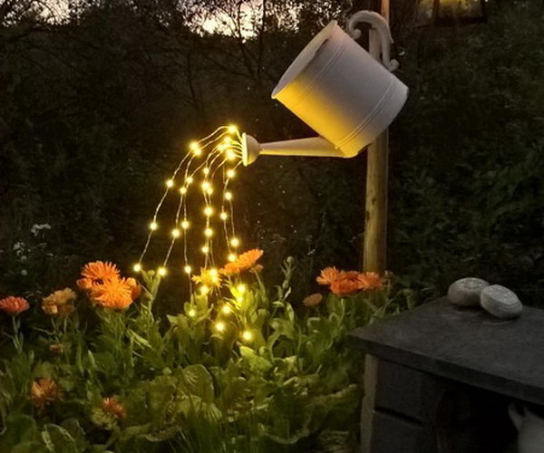 Homemade garden lights cheap