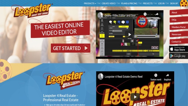 Loopster editing video online