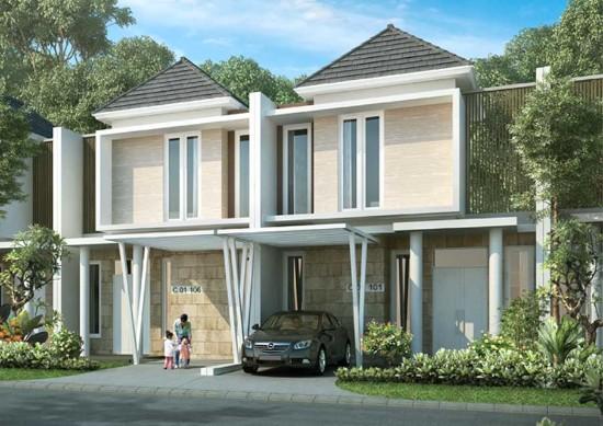 desain rumah minimalis ukuran 7x16 meter 2 lantai bangunan