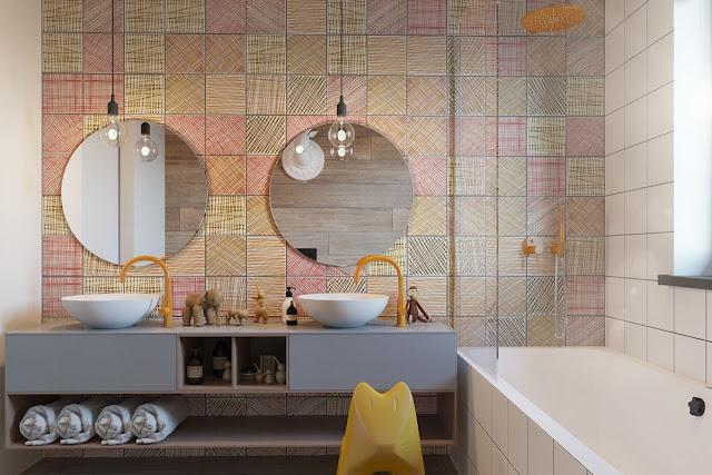 Simple Bathroom Tiles Design
