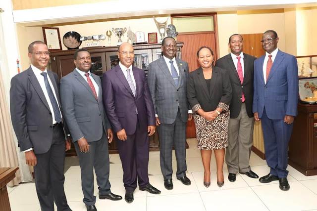 Raila Odinga meets all Central region governors for BBI. PHOTO | BMS