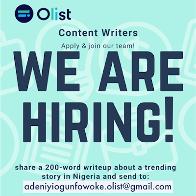 Olist Content Writers Recruitment