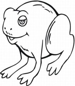 cartoon frog coloring pages-#18