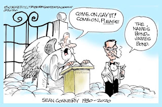 Sean Connery at the Pearly Gates