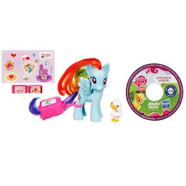 MLP Traveling Single with DVD Rainbow Dash Brushable Pony