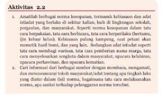Aktivitas 2.2 PKN kelas 7 halaman 40