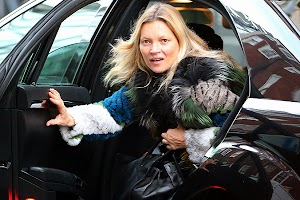 Kate Moss at a meeting in London