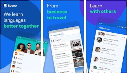 Aplikasi belajar bahasa inggris offline - busuu