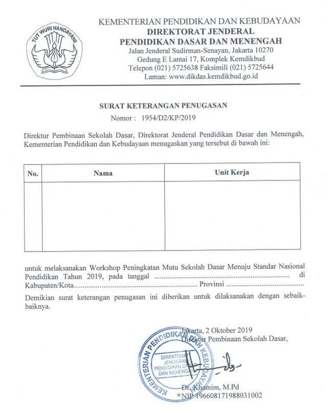 Surat Tugas Dinas Pengertian Fungsi Karakteristik Format