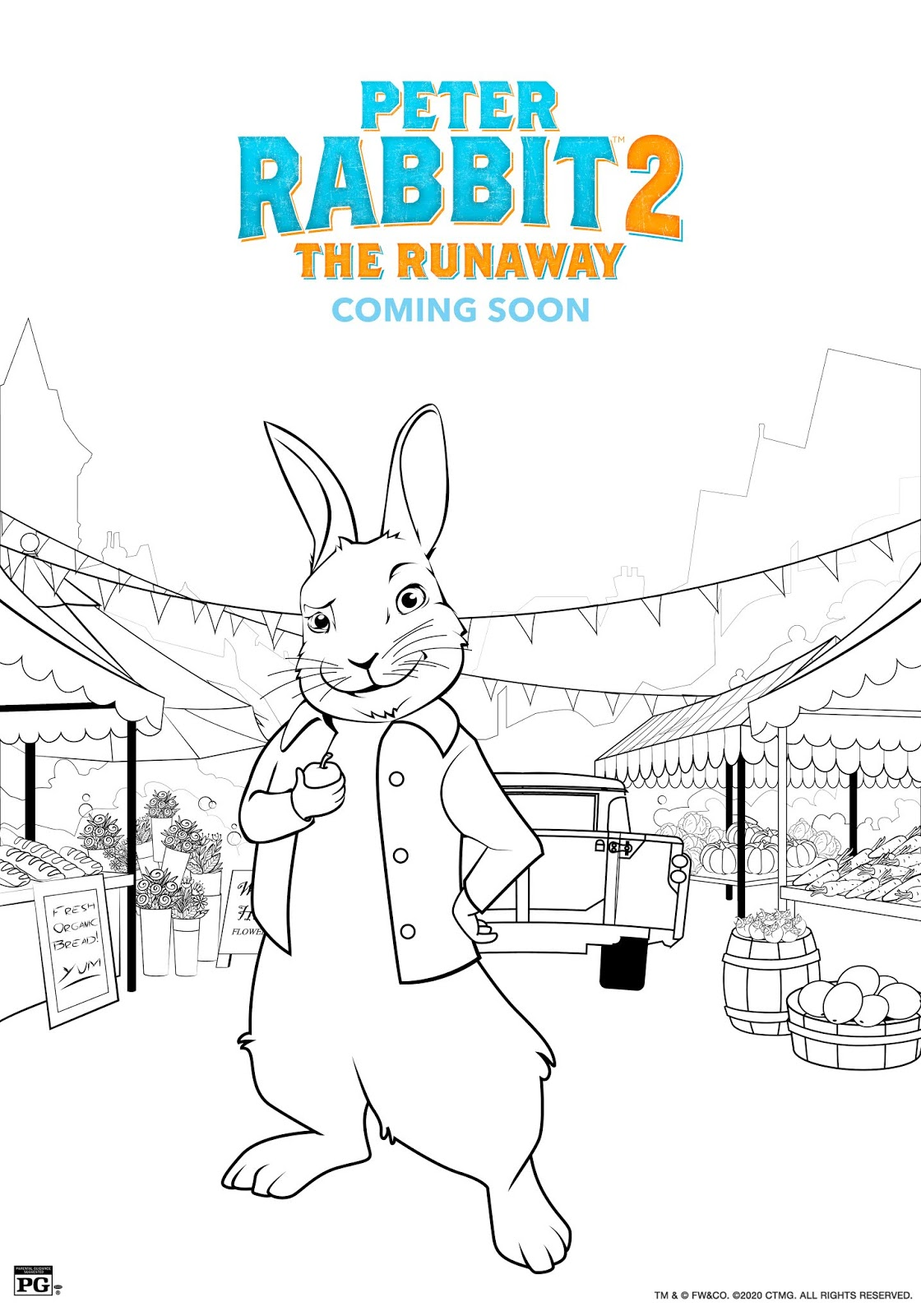 Peter Rabbit 2 Coloring Sheets