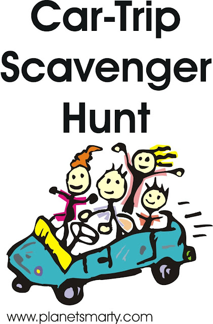 Car Trip Scavenger Hunt - Free Printable