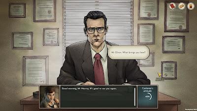 Coffee Noir Business Detective Game Screenshot 2