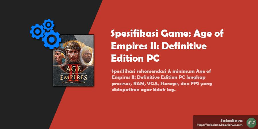Spesifikasi Game: Age of Empires II: Definitive Edition PC