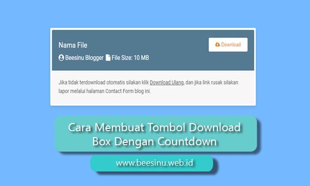 Cara Membuat Tombol Download Box Dengan Countdown