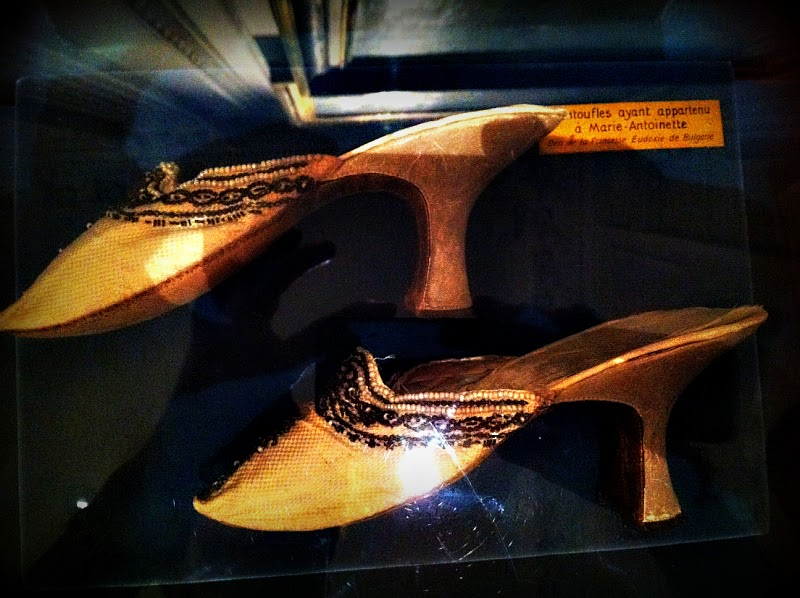 Shoes that belonged to Marie Antoinette with beading