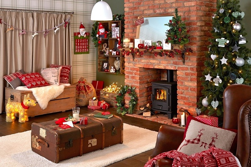 24 fotos de salas decoradas para o natal decora o e ideias for Decoraciones de apartamentos 2016