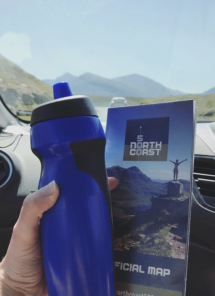 Reusable water bottle on NC500 [Essentials to Pack for a Highland Adventure]